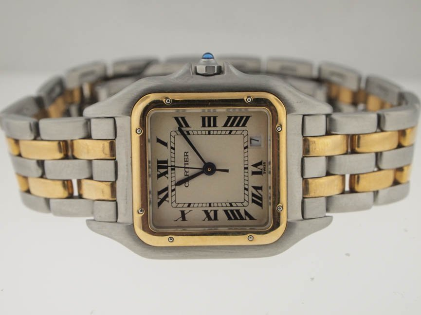 67: Cartier Midsize 18k and SS Panthere.