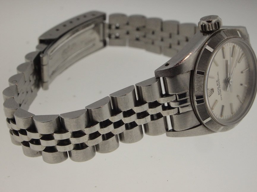 143: Rolex Ladies SS Oyster Perpetual. Sapphire Crystal - 2