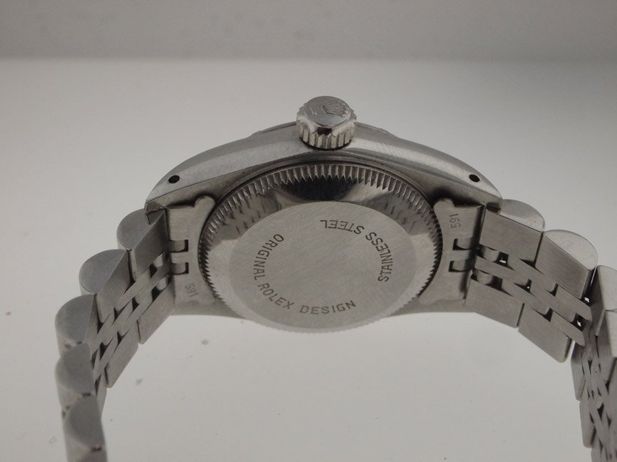 143: Rolex Ladies SS Oyster Perpetual. Sapphire Crystal - 3