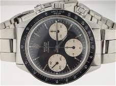 196: 195: Rolex Mens SS VINTAGE Daytona Circa 1970s. RA