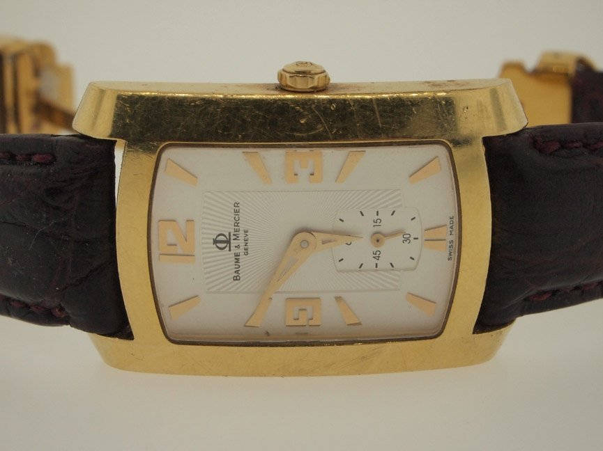 3: Baume & Mercier Mens 18k Gold Watch. 33.5 DWT.