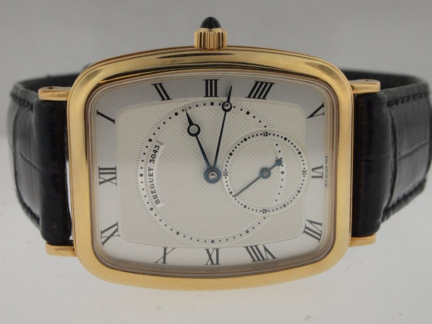 5: Breguet Mens NEW 18k Gold. Box/Papers.