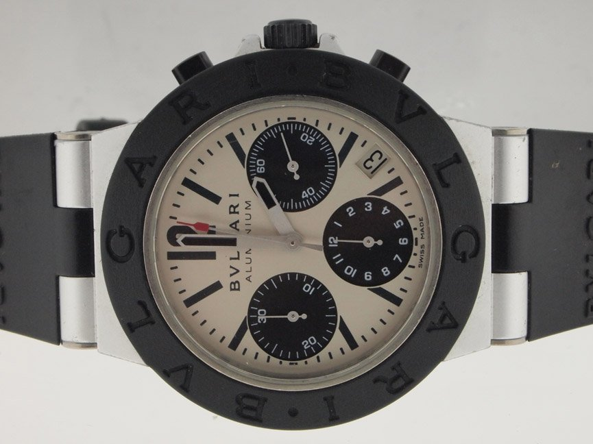 17: Bulgari Mens Diagano Chronograph. Box/Papers.