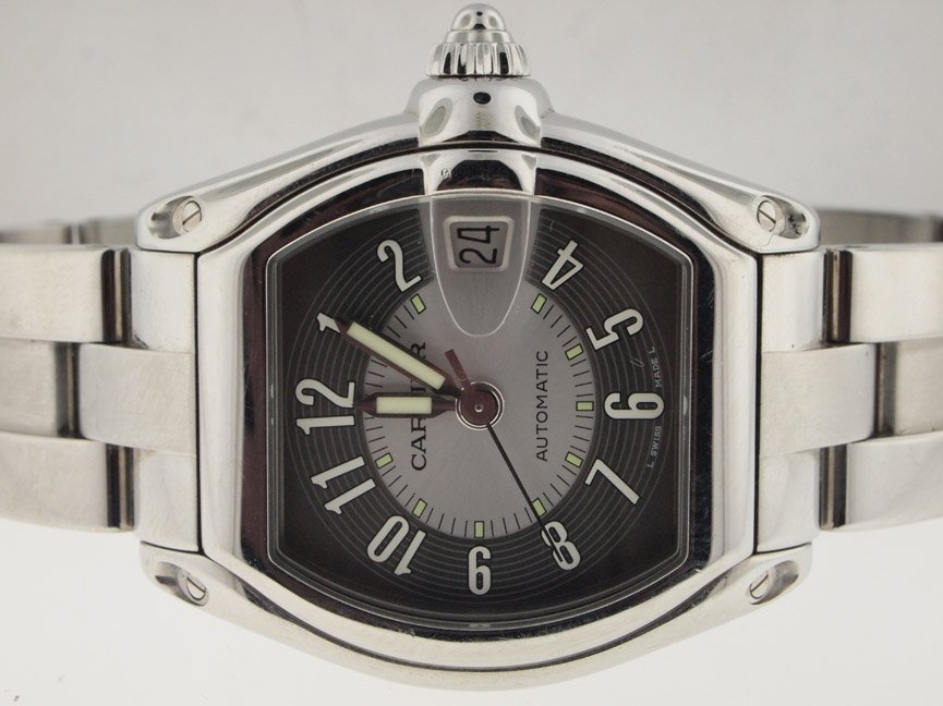 22: Cartier Mens Roadster Automatic. Box/Papers.