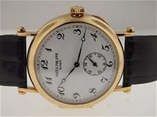 103: Patek Philippe 18k 3960 150th Anniverary Officers.