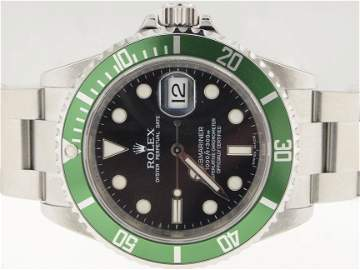 134: Rolex Mens SS Submariner 50th Anniversary. NEVER W