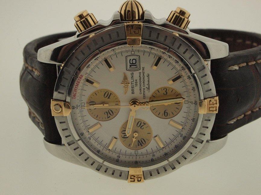 Breitling Mens 18k and SS Evolution Chronograph.