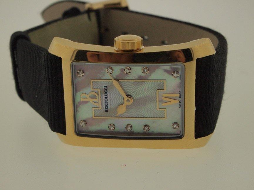 Bertolucci Ladies 18k Gold Watch. Diamonds.