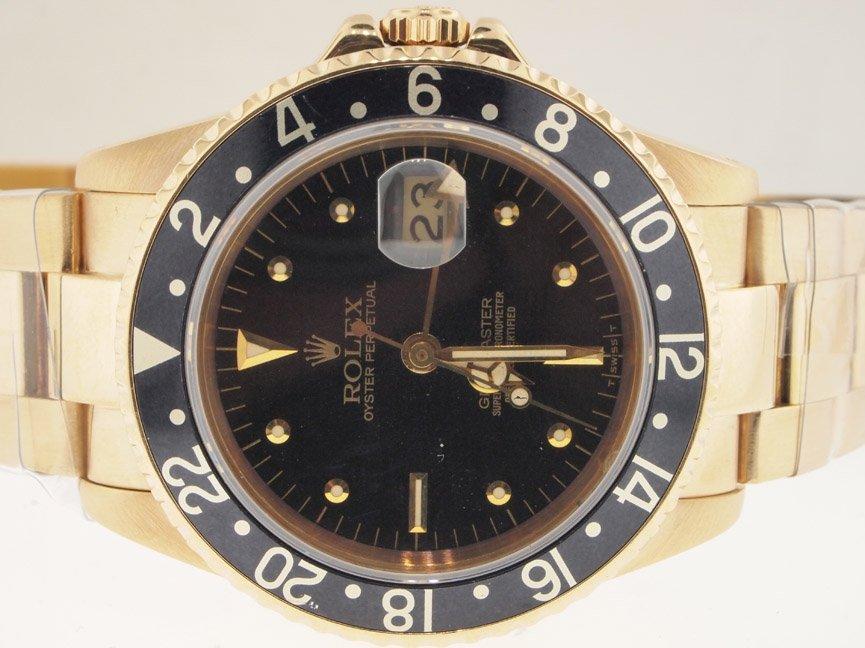 Rolex Mens 18k Gold GMT-Master. Rare Nipple Dial.
