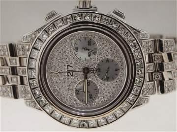 Breitling 18k WG Crosswind Special DIAMONDS EVERYWHERE.