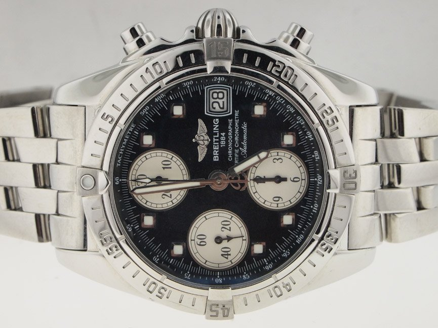 Breitling Mens SS Cockpit Chronograph Automatic.
