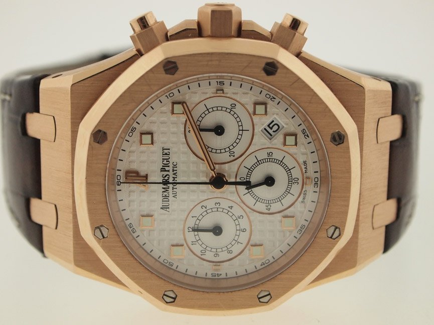 Audemars Piguet Mens 18k RG Royal Oak Offshore. $42K Re