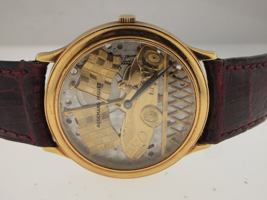 Audemars Piguet 18k Gold Ferrari Skeleton.