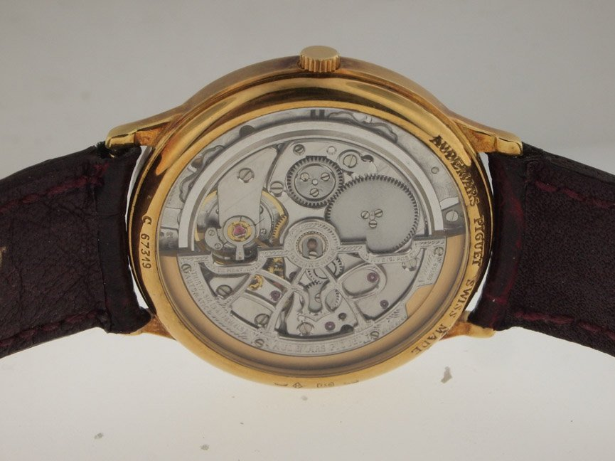 Audemars Piguet 18k Gold Ferrari Skeleton. - 3