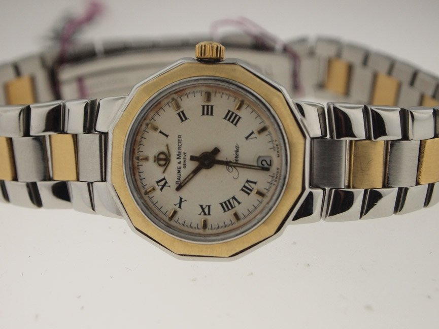 Baume & Mercier Ladies 18k and SS Riviera.
