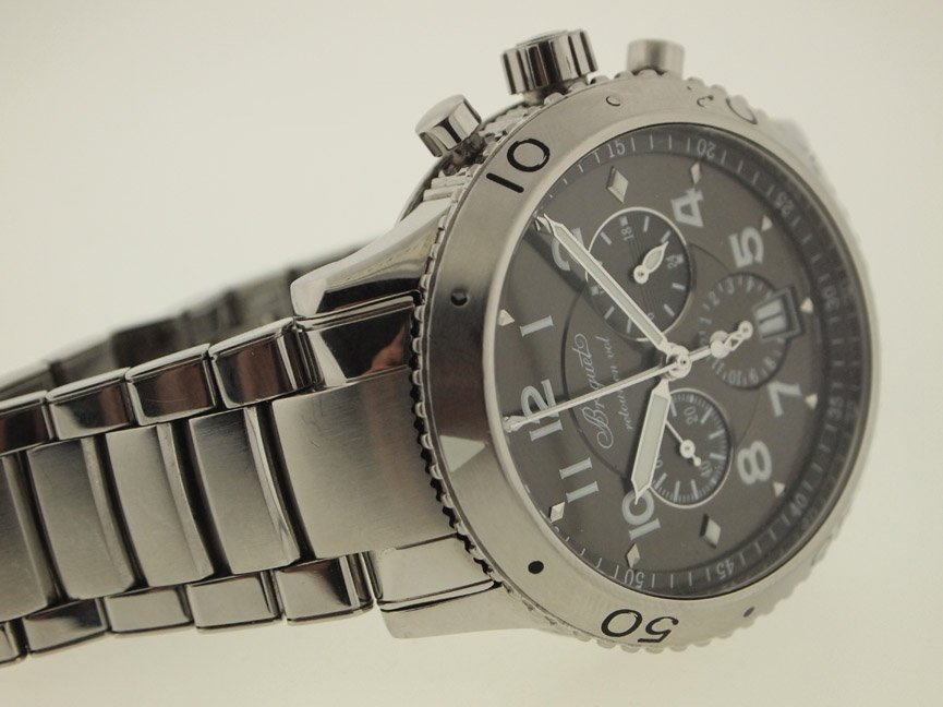 Breguet Mens SS Type XXI Chrono. Box and Papers. - 2