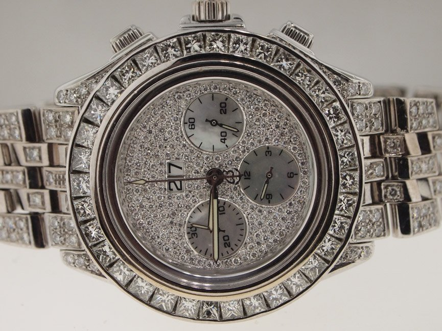 Breitling 18k WG Crosswind Special DIAMONDS EVERYWHERE.