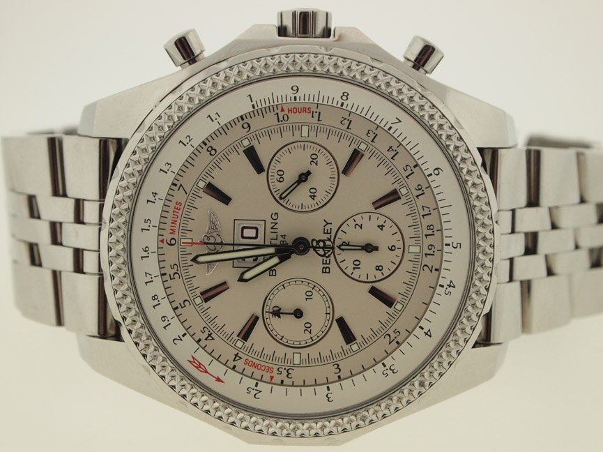Breitling Mens SS Bentley 6.75 Chronograph.