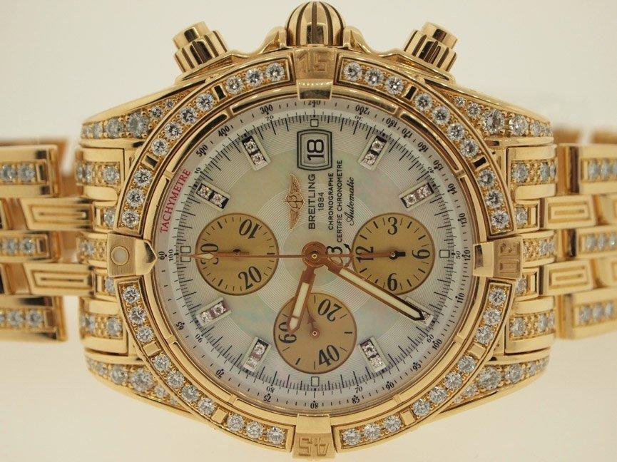 Breitling Mens 18k Evolution ALL ORIGINAL DIAMONDS.$90K