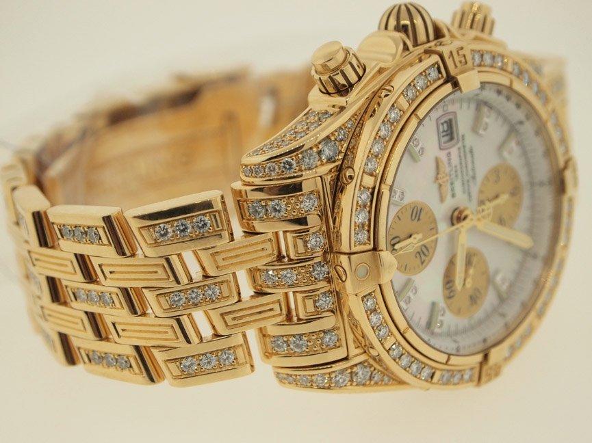 Breitling Mens 18k Evolution ALL ORIGINAL DIAMONDS.$90K - 2