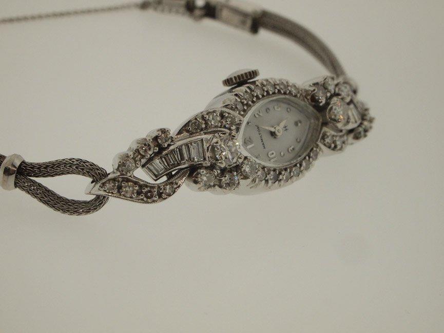 Hamilton Ladies 14k Vintage Diamond Watch. 48 Diamonds. - 2