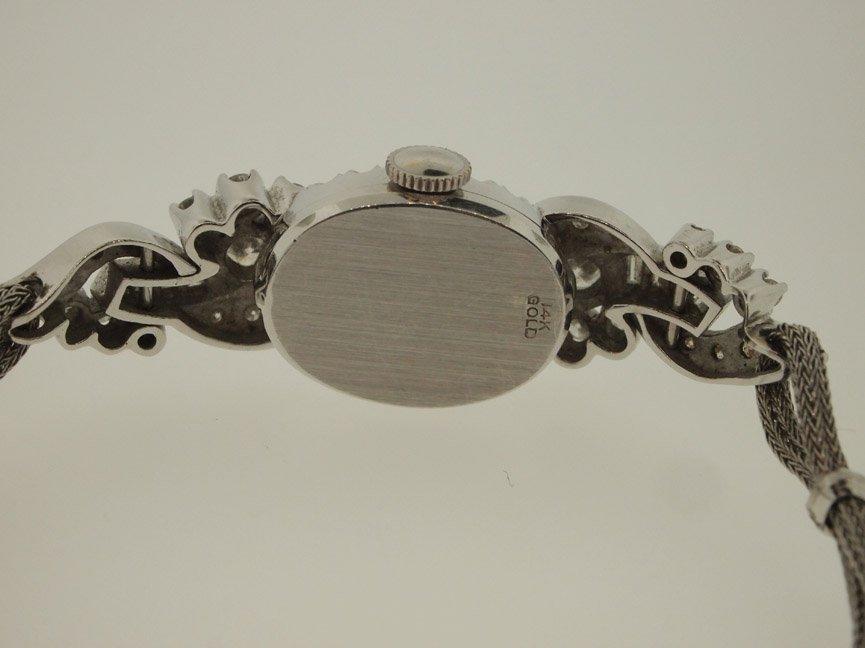 Hamilton Ladies 14k Vintage Diamond Watch. 48 Diamonds. - 4