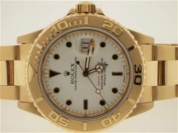 Rolex Mens 18k Gold Yacht-Master. X Serial.