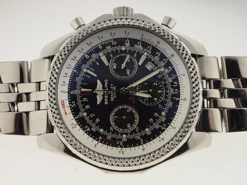 Breitling Mens SS Bentley Motors Chronograph Automatic.