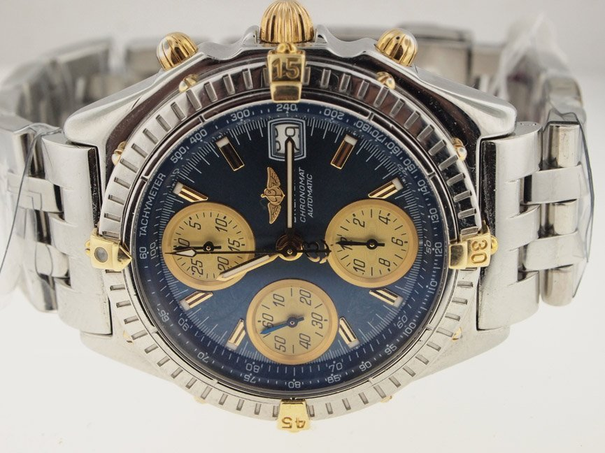 Breitling Mens 18k & SS Chronomat Automatic.