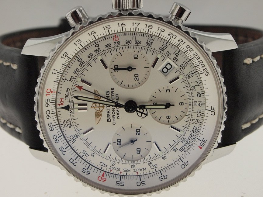Breitling Mens SS Navitimer. BOX/PAPERS.