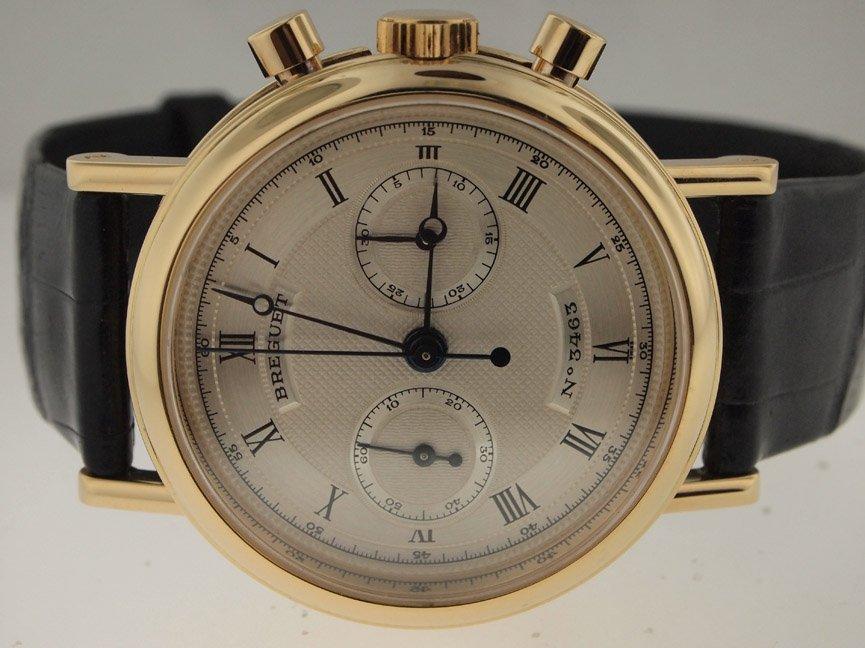10: Breguet Mens 18k RG Ref 3237 Classique Chronograph.
