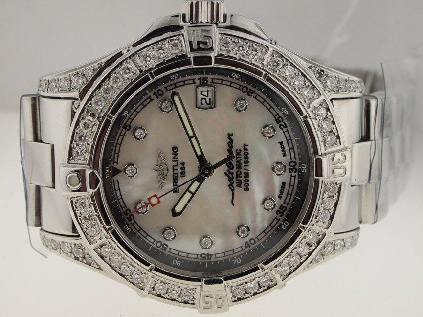 11: Breitling Mens SS Colt Ocean Automatic. Diamonds.