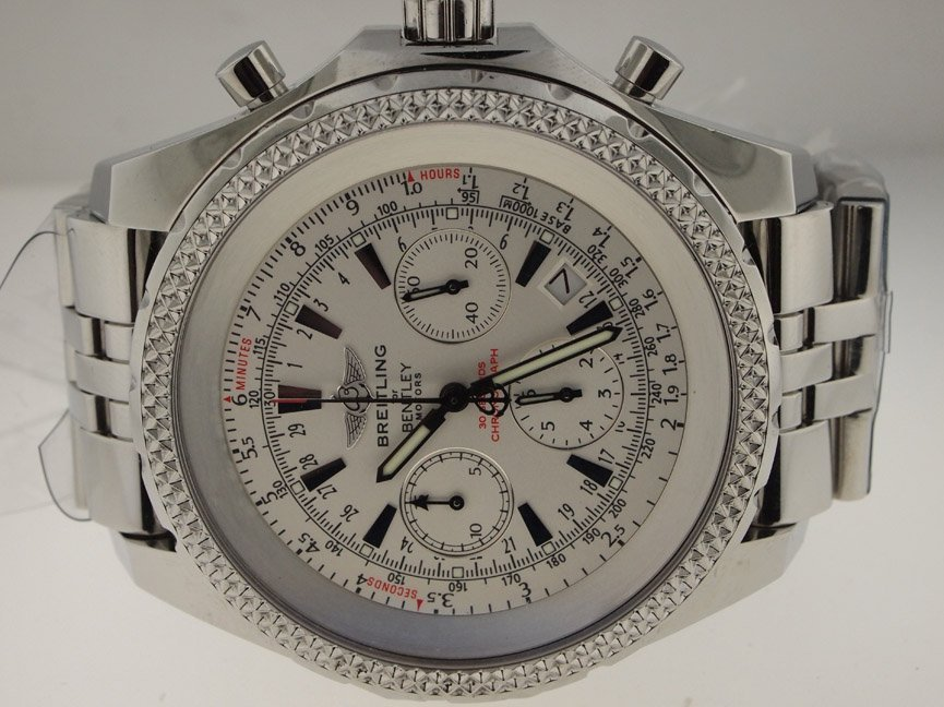 13: Breitling Mens SS Bentley 6.75 Chronograph Automati