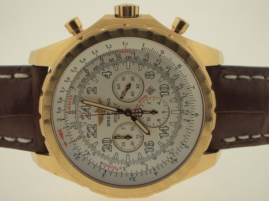 16: Breitling Mens 18k Bentley Chronograph 24 Hour.