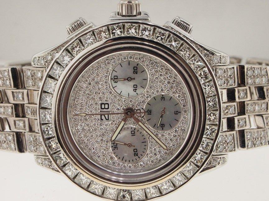 19: Breitling Mens 18k White Gold DIAMONDS EVERYWHERE C