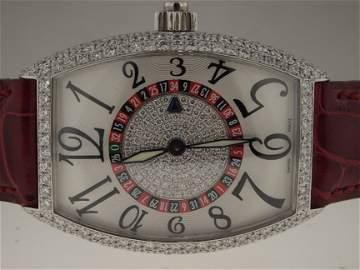 84: Franck Muller 18k WG 5850 Vegas D Roulette Diamonds