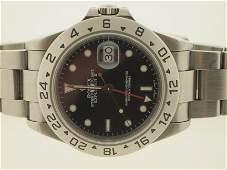 183: Rolex Mens SS Explorer II P Serial.