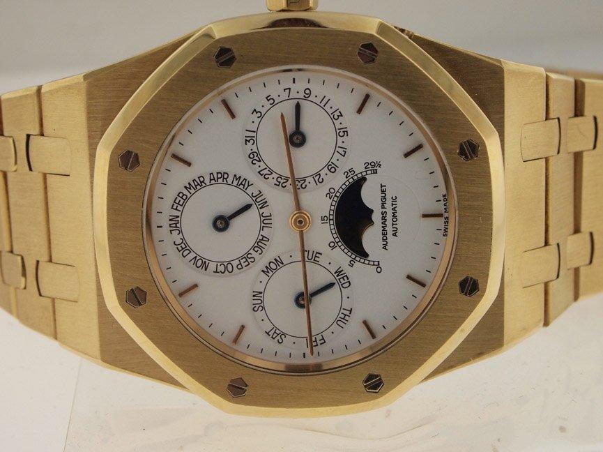 Audemars Piguet Mens 18k Perpetual Calendar Moon Phase.