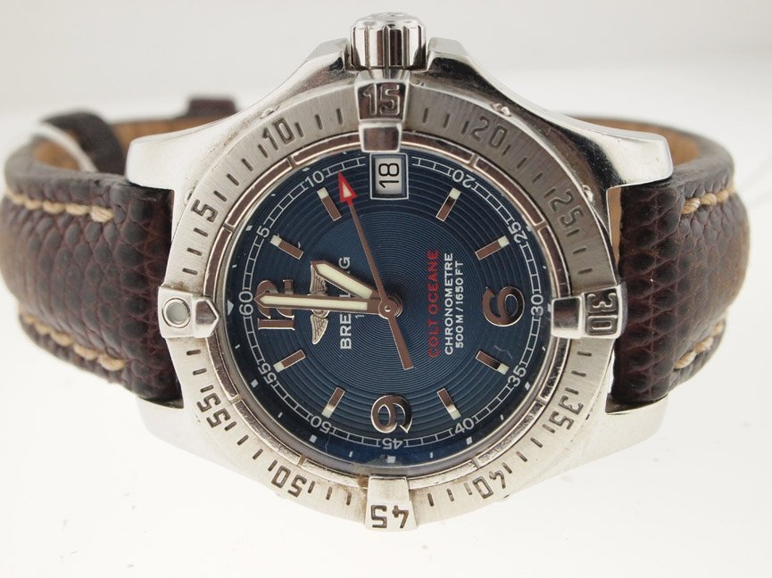 Breitling Ladies SS Colt Oceane on Strap.