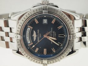 Breitling Mens SS Headwind Day Date Automatic.