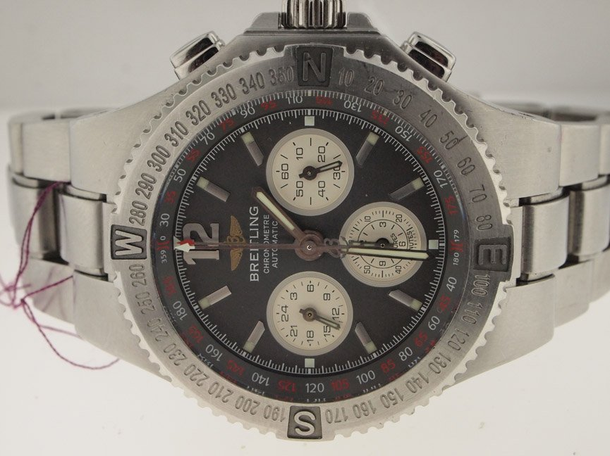 Breitling Mens SS Hurcules Chronograph Automatic.