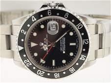 Rolex Mens SS GMT Master II Circa 2003.
