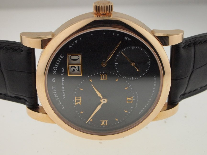 A Lange & Sohne 18k Gold 1 Power Reserve. BOX/PAPERS.