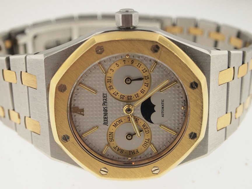 Audemars Piguet 18k and SS Royal Oak Moon Phase.