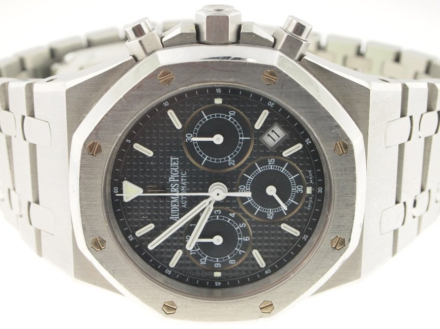 Audemars Piguet Mens SS Royal Oak Chronograph.