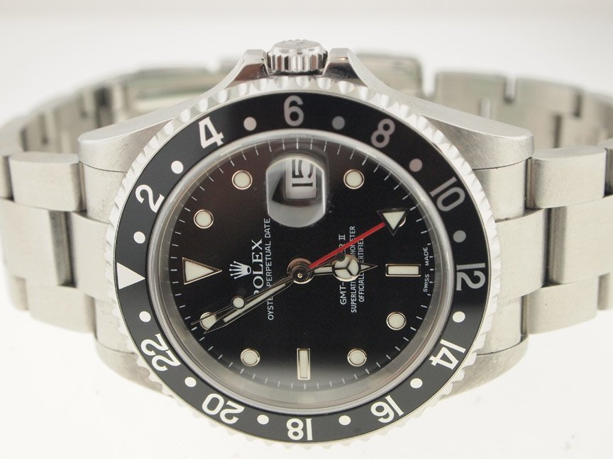 Rolex Mens SS GMT-Master II 16710 Circa 2002.