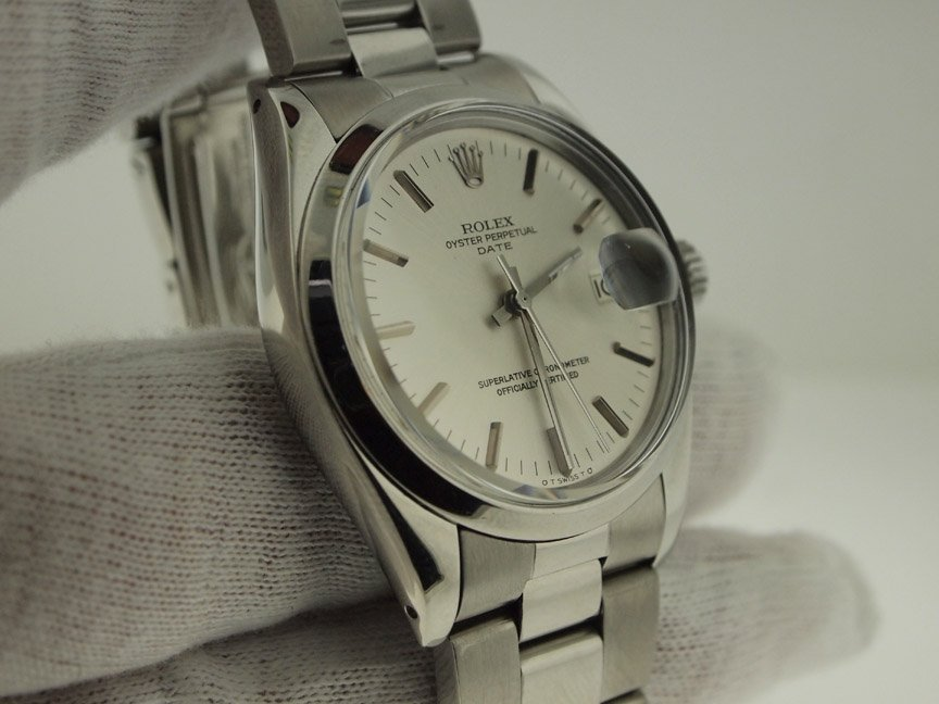Rolex Mens Stainless Steel Oyster Perpetual Date.