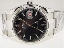 Rolex Mens SS Datejust New Style. Circa 2008.