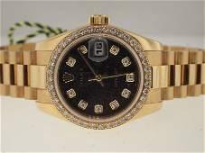 Rolex Ladies 18k President Original Diamond Dial/Bezel.