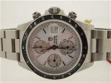 Tudor by Rolex Mens SS Prince Date Chronograph.